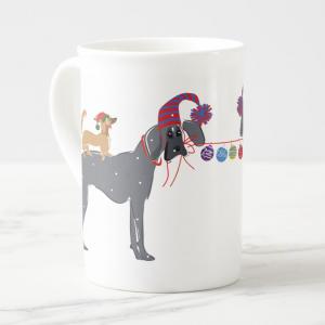 Blu and Lola Christmas mug