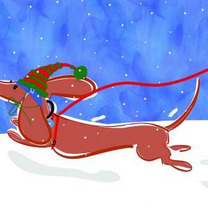Happy Holiday Card Betsy, bitsy and Olivia