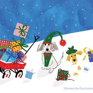 Merry Christmas Card Sunshine and Eddy