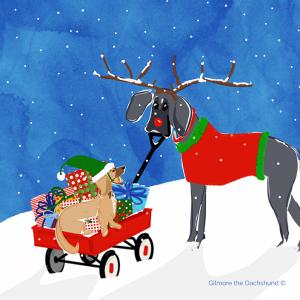Blu and Lola Christmas Card 2019