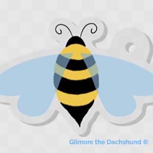 Queen Bea's Bee Acrylic Charm