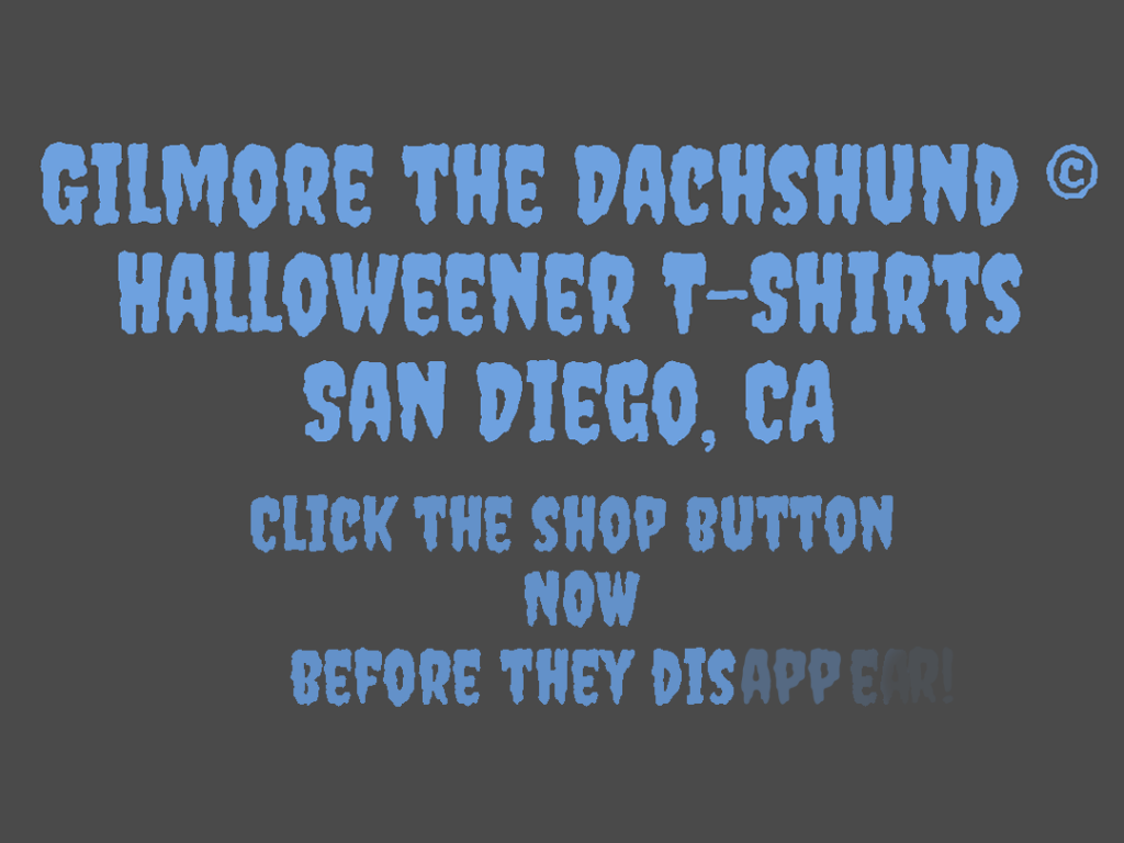 halloween dachshund tshirts are here!