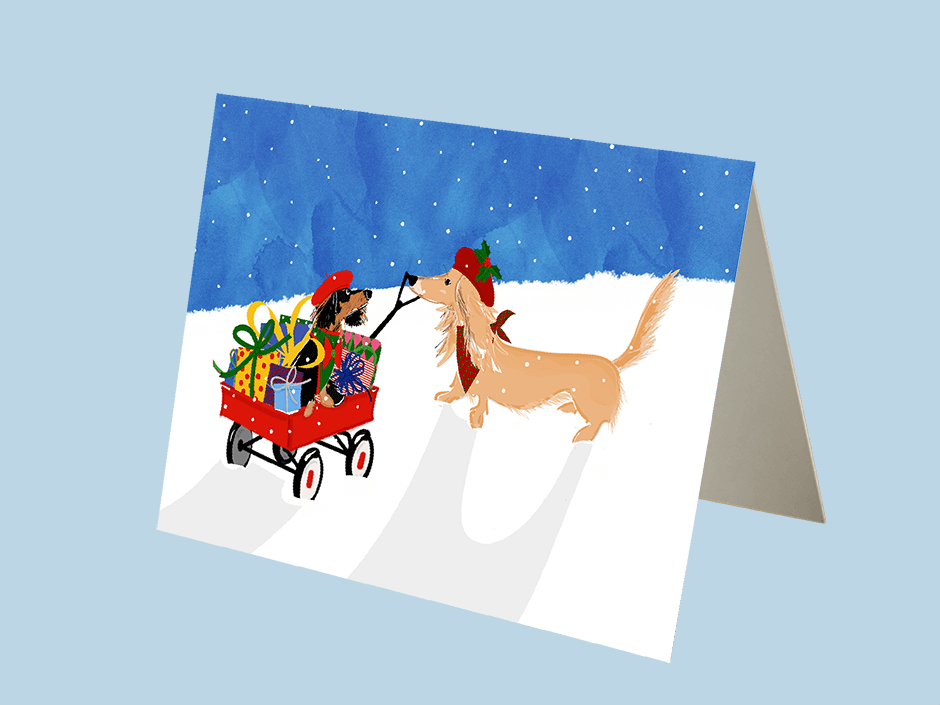 custom holiday cards with your dog