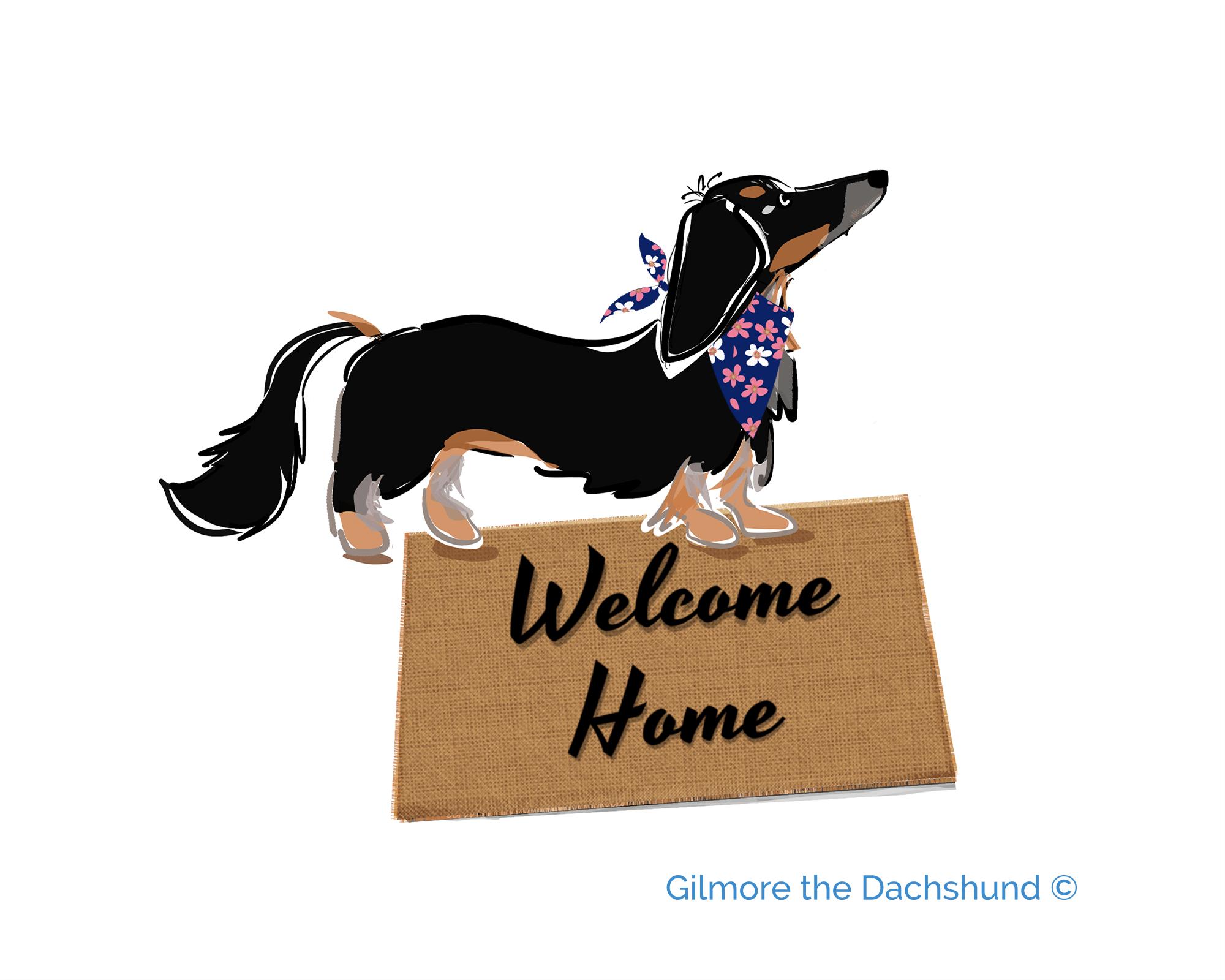 Gilmore the Dachshund custom portrait of Trixie