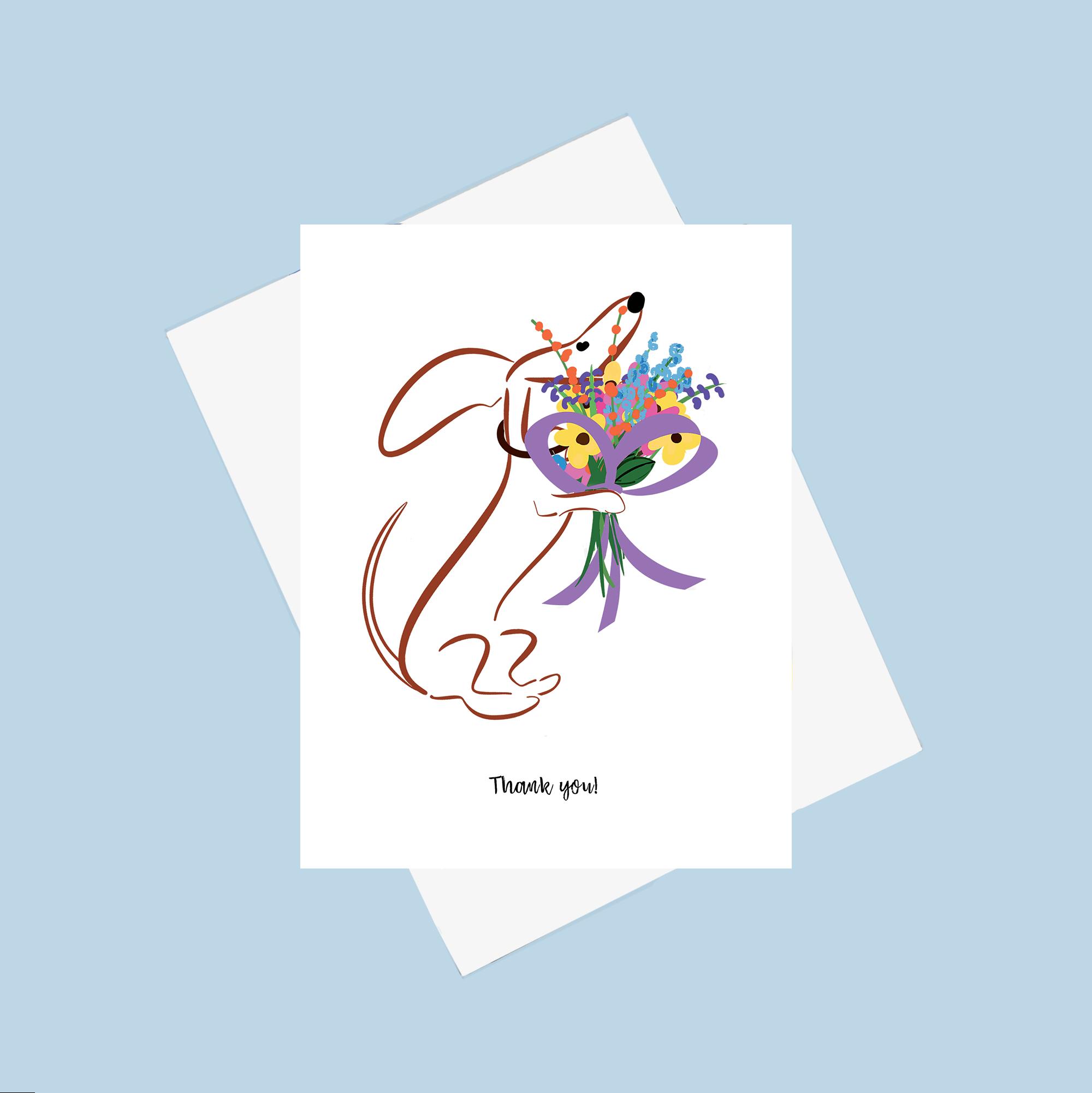 Gilmore the Dachshund greeting card